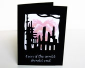 Post Apocalypse Valentine Paper Cut Greeting Card Silhouette