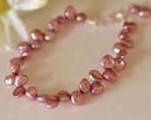 Pink Keshi Style Cultured Freshwater Pearl Bracelet Modern Pearls Natures Splendour