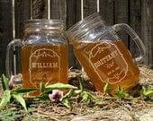 Toasting Glasses, Mason Jar Glasses, 16 oz, Rustic Wedding Barn Decor, Personalized Wedding Gift, Bridal Shower Gift, Mr and Mrs Mason Jars