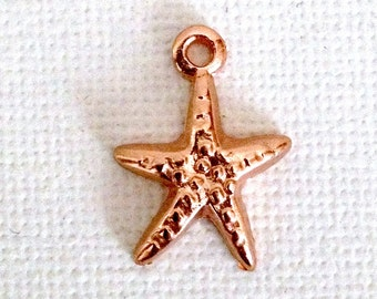 SALE... Beautiful Rose Gold Filled Starfish Charm/Pendant from Israel.  Rose Gold Charms