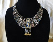 Egyptian Style Fiance Bead Necklace
