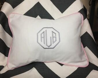 Monogrammed  Pillow, Monogram Pillow,  Personalized Pillow, Dorm Decor, Nursery Pillow, Wedding Gift Hoilday Baby