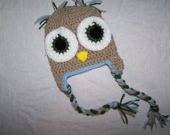Custom Owl Earflap Hat
