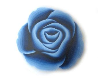 Polymer Clay Cane Millefiori Navy Blue Rose Cane