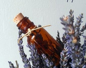 Lavender Blossoms in a Bottle. One of a kind Aromatherapy Art.