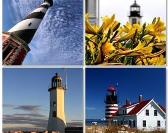Lighthouses Combo Pack, Nautical Wall Art, Coastal Photography, 8X10 Mats, Ready to Frame, Fine Art, Wall Hanging