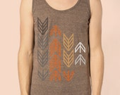 Arrows  by Chill Clothing on American Apparel TriTank in Coffee