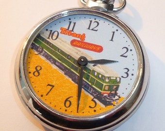 Vintage 1960's TRIANG RAILWAYS advertising dial pocket watch...