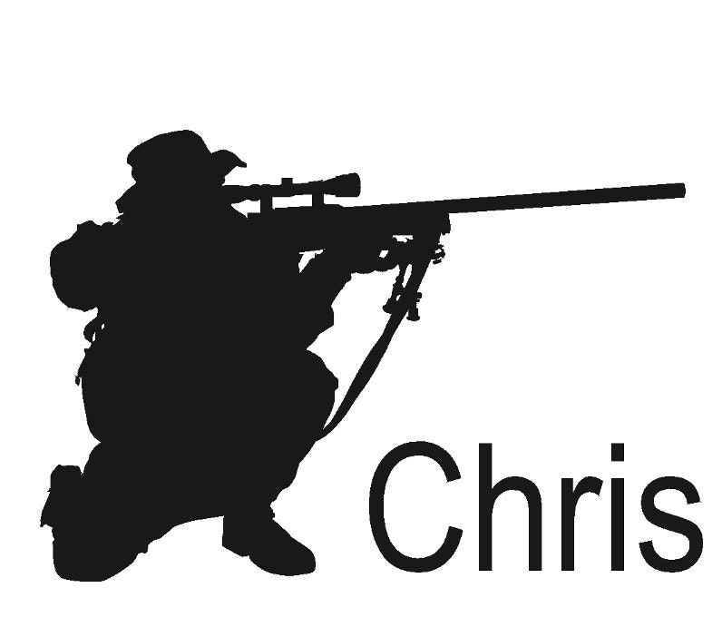 Soldier decal Sniper decal Military sticker Vinyl wall