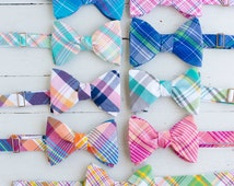 The Beau- men's freestyle preppy plaid bow ties- choose your favorite