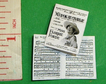 1920's SHEET MUSIC 'Ma Look at Charlie' Dollhouse Miniature 12th scale