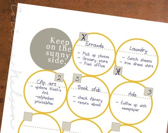 The Sunny Lady's Multi-Tasking To-Do List Instant Printable