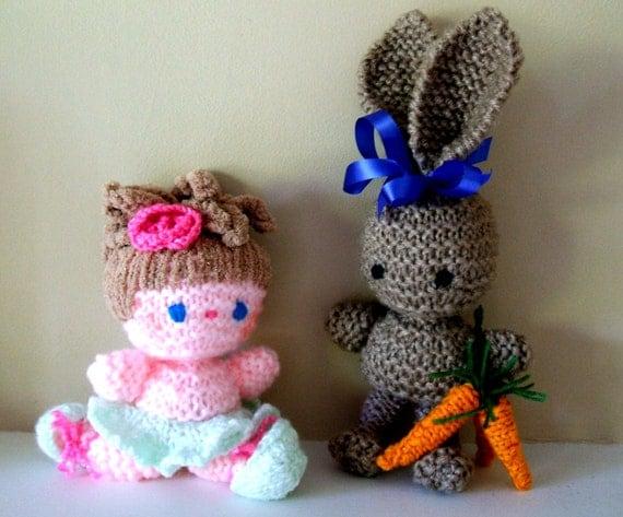 SALE! Ballerina & Bunny Amigurumi dollsknitting pattern ...