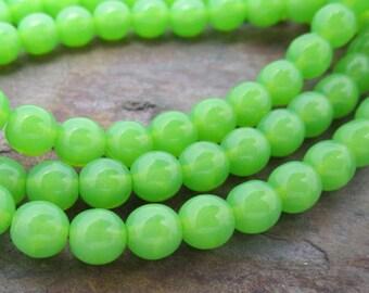 Spring Druk 6mm Beads