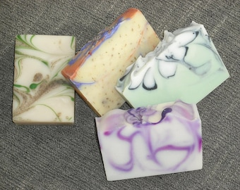 4  Soaps for 20 DOLLARS / Your Choice /Artisan Soap / Cold Process Handmade Soap