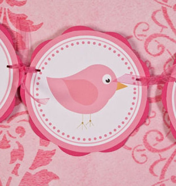 Items similar to birdie it 39 s a girl baby shower banner for It s a girl dekoration
