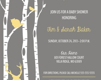 Baby Shower - Woodland, Deer, Outdoor