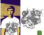 Chinese Dragon on a Unisex Crew T-Shirt