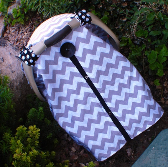 Car seat canopy Grey and Black  / Car seat cover / car seat canopy / carseat cover / carseat canopy / nursing cover