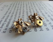 Flying Time Steampunk Insect Earrings