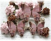 Chocolate Rose Butterfly Embellishments for Scrapbooking, Cardmaking, Tag Art,  Mixed Media, Mini Albums