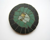 fridge magnet - Mosaic with stained glass and ceramic tiles