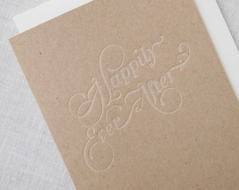 SALE Happily Ever After Letterpress Greeting Card