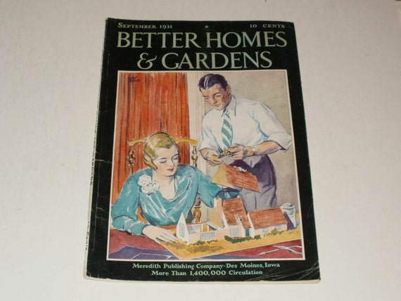 Vintage Better Homes And Gardens Magazine September 1931