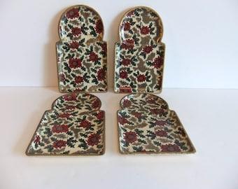 Vintage Paper Mache Snack Trays paper mache