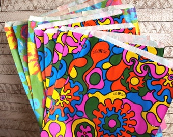 9 Vintage Paper Boutique Shopping Bags 1970s 1980s dead stock for collage or giftwrap