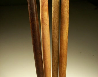 "Hair Sticks of 4 Oregon hardwoods 5"" 6"" 7"""