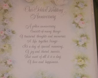Golden Wedding Anniversary Scrapbook /1969/ Never Used
