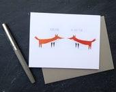 Fox Love Card