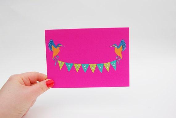 Thank You Kingfisher Card