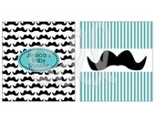 PRINTABLE PDF Mustache Candy Bar Labels