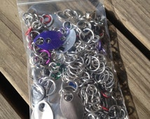 4oz Assorted Chainmail Scraps