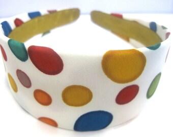 Retro Circles Headband 2 Inch