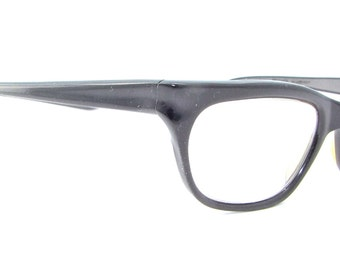 1950s  Cat eye  Eyeglasses  // 50s Vintage Frames // Black // Germany // Metzler