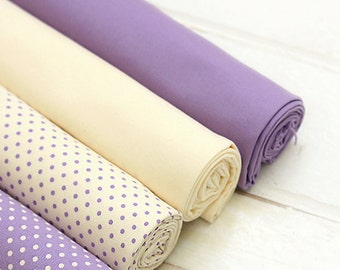 Vintage Violet Oxford fat Quarter Set of 4, U7015