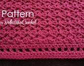 Crochet Baby Blanket Pattern // Marietta