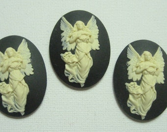 New Arrival 3 pieces 40x30 MM Sweet Fairy Cameos
