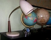 Retro vintage Melomine and Wood Gooseneck Lamp