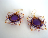 Butterflies beaded earrings