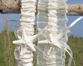 Garter Set Beach Wedding, Starfish Bridal Accessories, Mermaid, Nautical Wedding, Ivory Garters, Beach Weddings, Bridal Garter Set