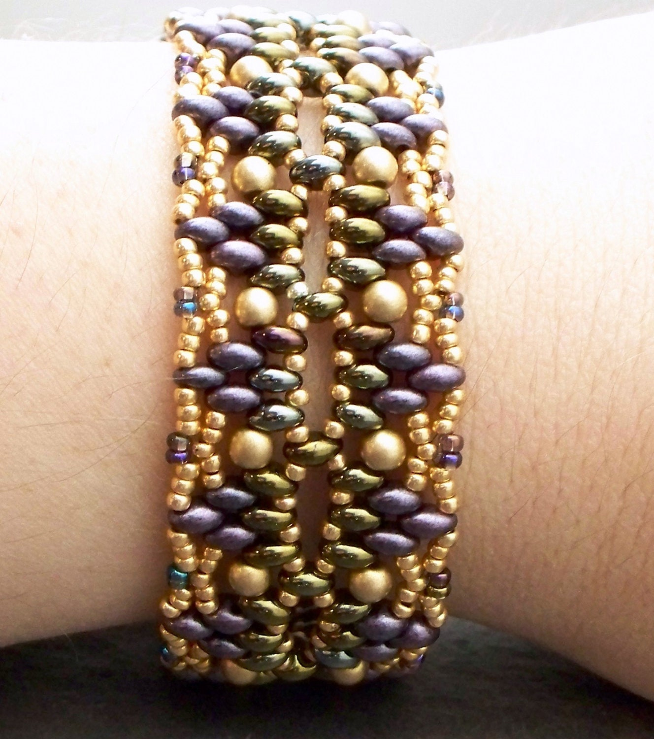 Beading Tutorial Twin Bead Bracelet Pattern Super Duos