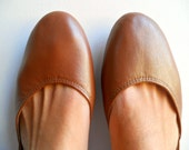 MAYA - Ballet Flats - Leather Shoes - 39 - Bronze. Available in different colours & sizes - lolliette