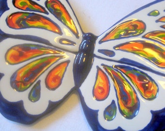 Ceramic Rainbow Butterfly - Donation to Whatcom Humane Society