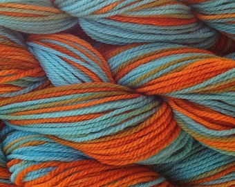 Hand Painted Merino Wool Worsted Weight Yarn in Hopi Land