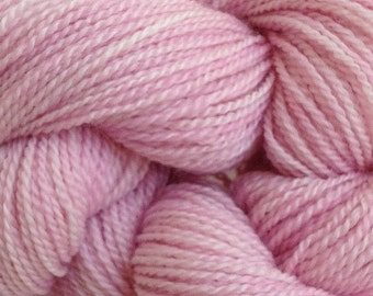 Merino Wool Yarn Lace Weight in Girlie Pink Hand Painted