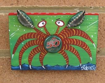 Original Painting ~ Bottle Cap Crab